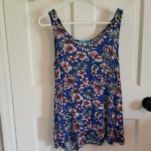Blue and floral tank